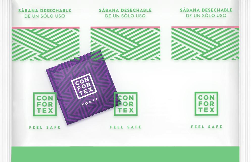 sábanas desechables con preservativo