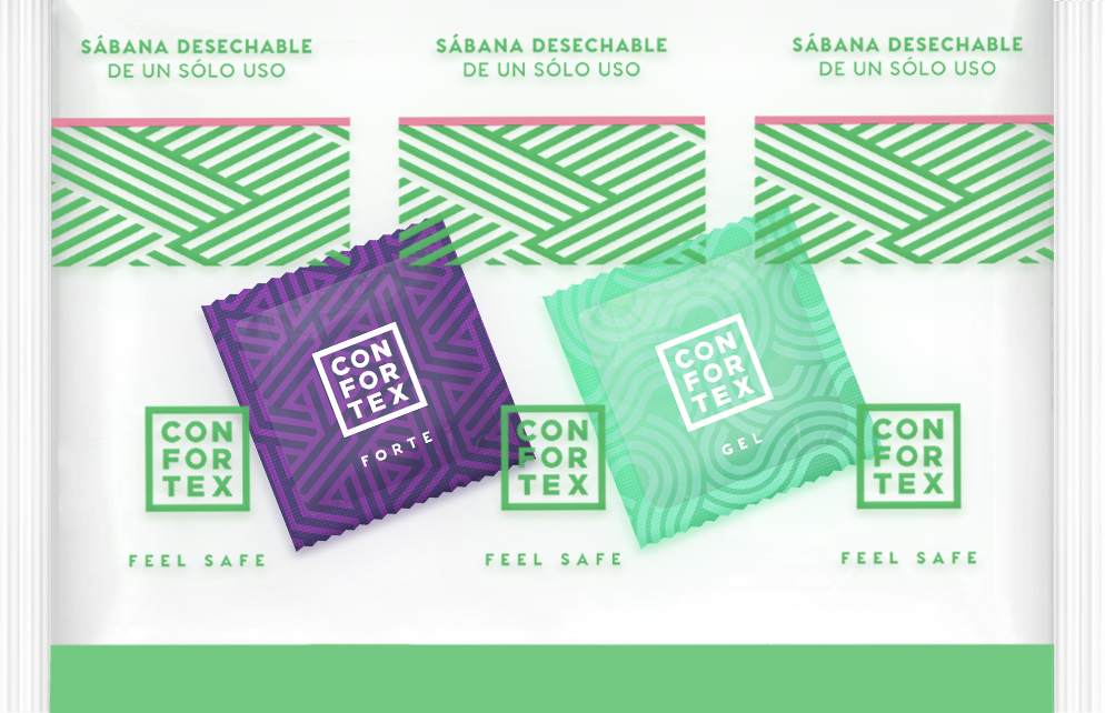 Sábanas Desechables con Preservativo y Lubricante